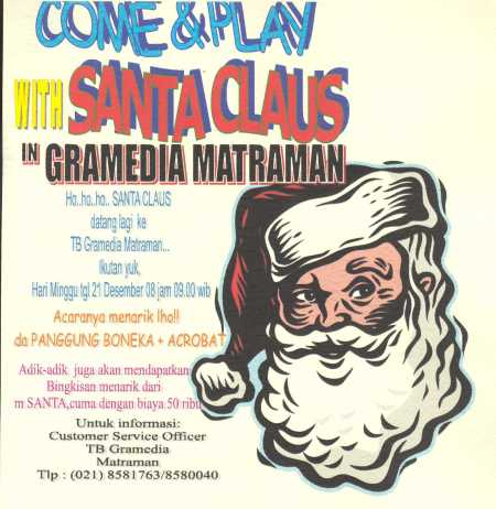 Santa Claus in Gramedia Matraman