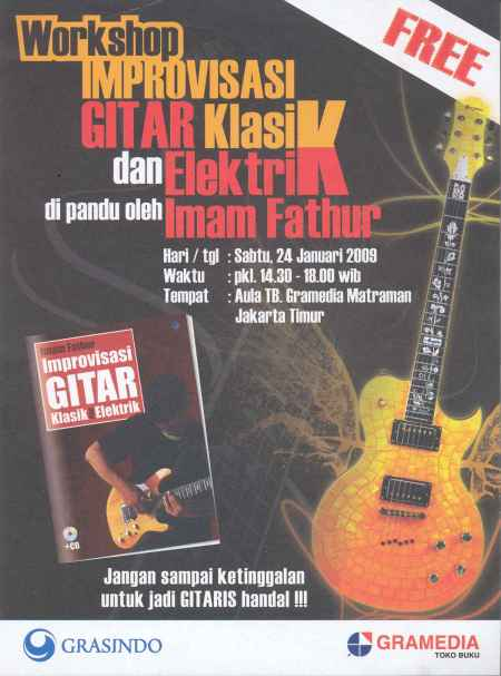 Workshop Improvisasi Gitar Klasik dan Elektrik