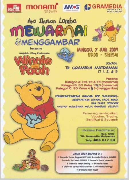 Lomba Mewarnai & Menggambar bersama Winnie The Pooh